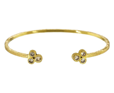 Brown Diamond and Gold Cuff Bracelet - TWISTonline