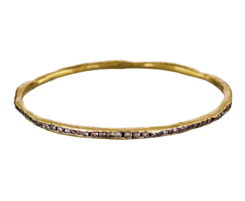 Gold and Mixed Diamond Bangle Bracelet zoom 1_todd_pownell_bracelet