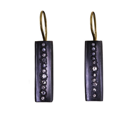 Concave Rectangle Earrings with Inverted Diamonds zoom 1_todd_pownell_earrings