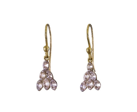 Inverted Diamond Marquise Dangle Earrings - TWISTonline