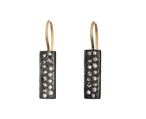 Inverted Diamond Rectangle Earrings - TWISTonline