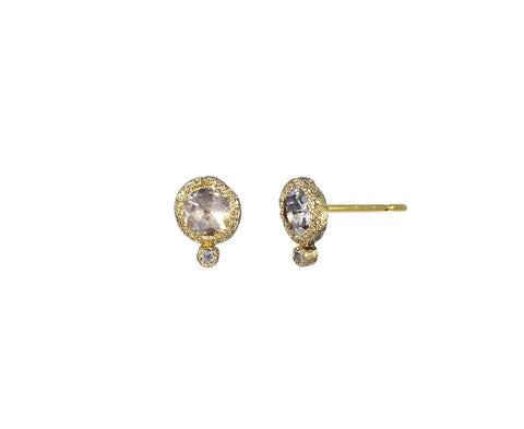 Rose Cut Diamond Earrings - TWISTonline