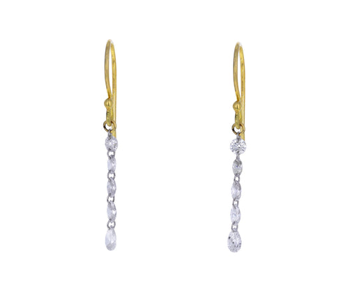 Mixed Diamond Cascade Earrings
