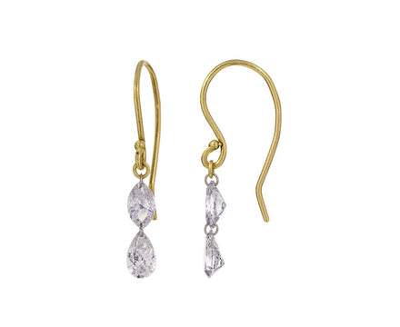 Double Marquise Diamond Earrings - TWISTonline