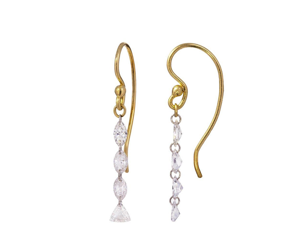 Marquise and Trillion Diamond Cascade Earrings - TWISTonline