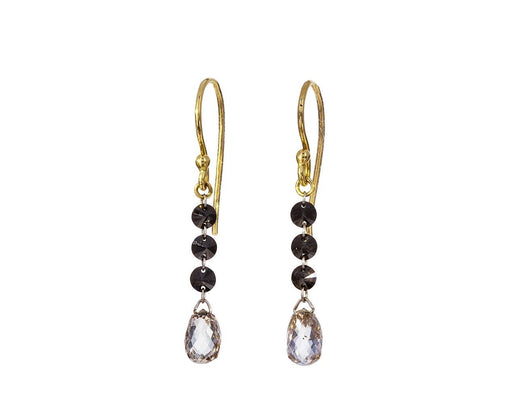 Cognac and Black Diamond Earrings - TWISTonline