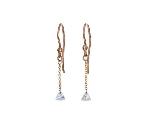 Diamond Trillion Dangle Earrings zoom 1_todd_pownell_gold_trillion_diamond_earrings
