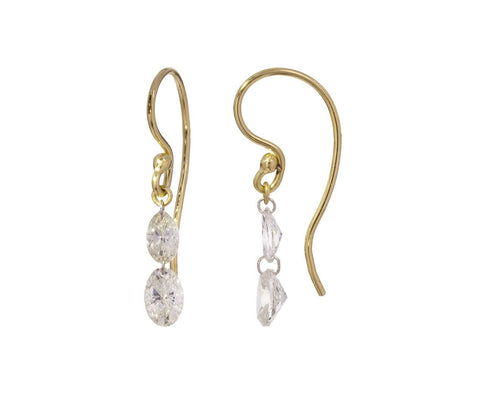 Marquise and Oval Diamond Drop Earrings - TWISTonline