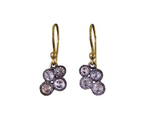 Inverted Diamond Cluster Earrings - TWISTonline