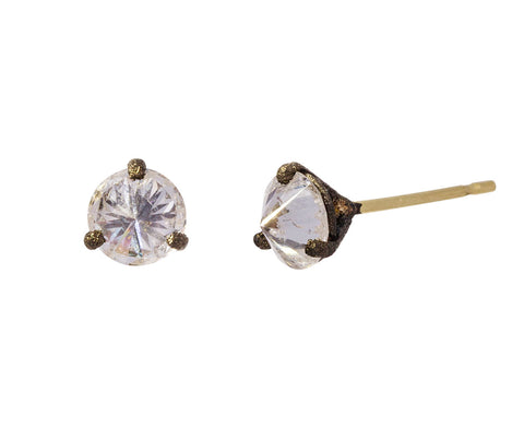 Large Inverted Diamond Stud Earrings