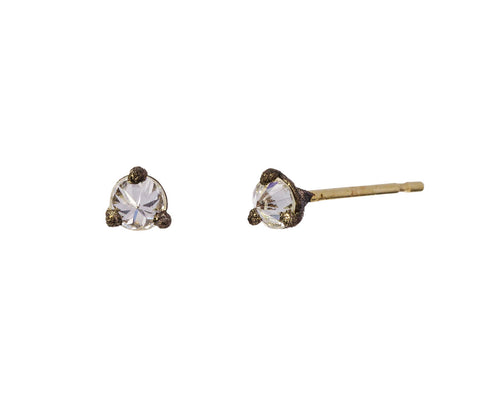 Small Inverted Diamond Stud Earrings - TWISTonline