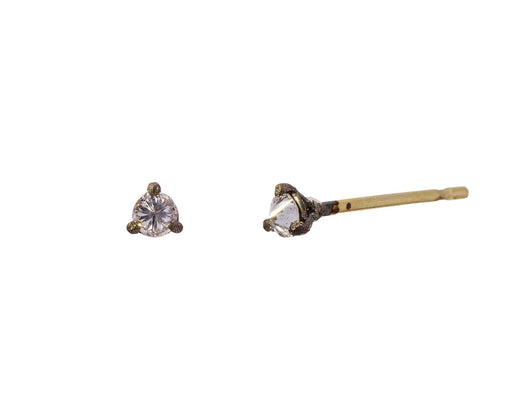 Tiny Inverted Diamond Stud Earrings - TWISTonline