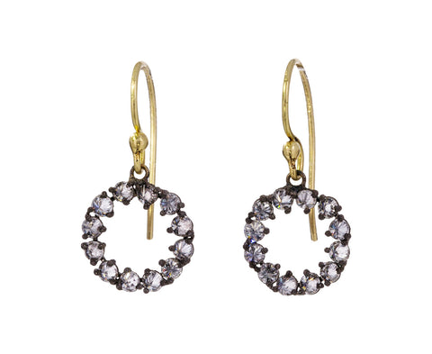 Round Inverted Diamond Dangle Earrings - TWISTonline