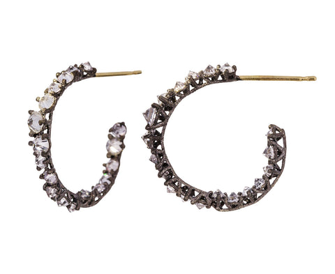 Large Inverted Diamond Hoops - TWISTonline
