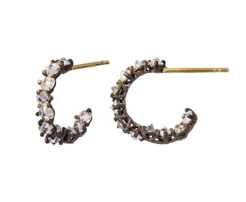 Small Inverted Diamond Hoops - TWISTonline
