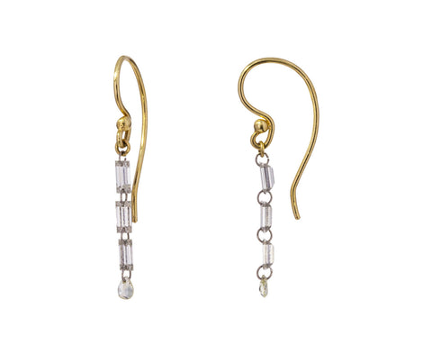 Triple Diamond Baguette and Pear Earrings - TWISTonline