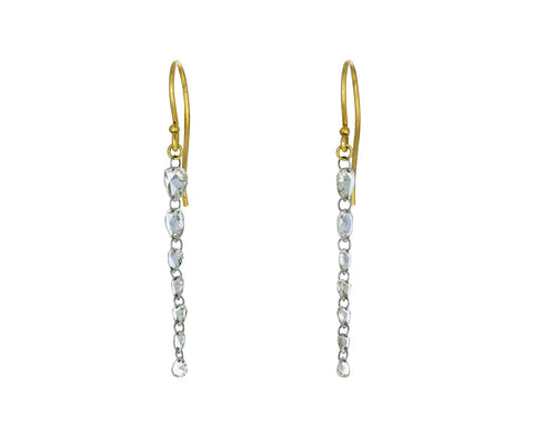 Tapered Pear Shaped Diamond Earrings