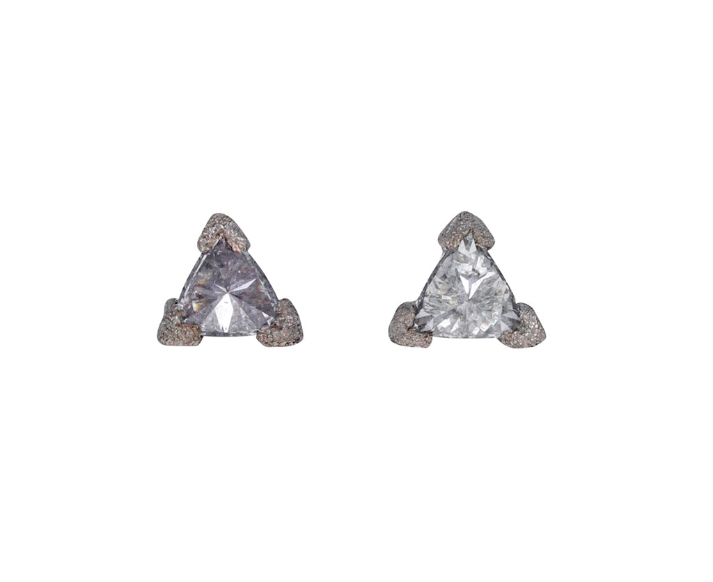 Inverted Trillion Diamond Stud Earrings
