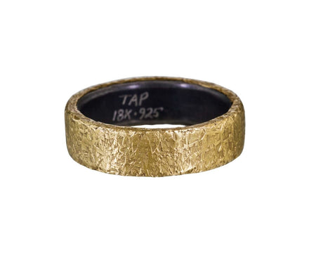 Gold and Silver Rustic Hammered Men's Band - TWISTonline