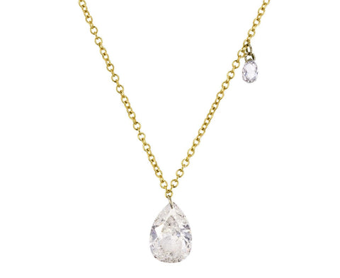 Pear Shaped Diamond Drop Necklace - TWISTonline