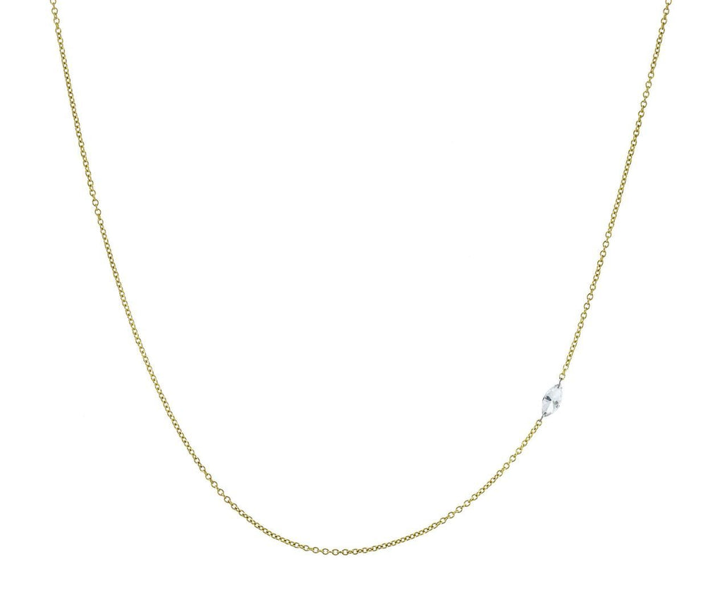 Inverted Diamond Marquise Chain Necklace - TWISTonline