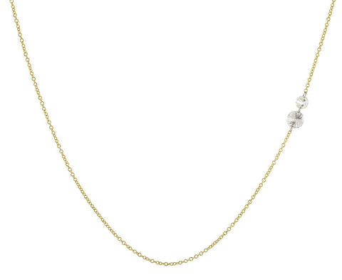 Double Floating Diamond Necklace - TWISTonline