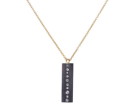 Inverted Diamond Rectangular Pendant Necklace - TWISTonline