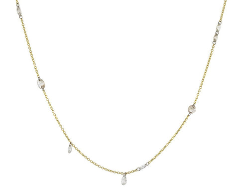 Free Set Diamond Necklace zoom 1_todd_pownell_gold_multi_shape_diamond_necklace