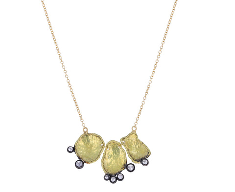 Gold Form and Diamond Necklace