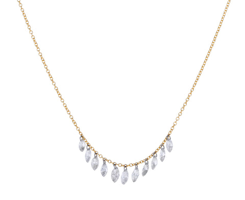 Marquise Diamond Fringe Necklace