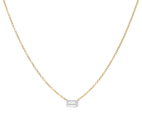 Emerald Cut Free Set Diamond Necklace - TWISTonline