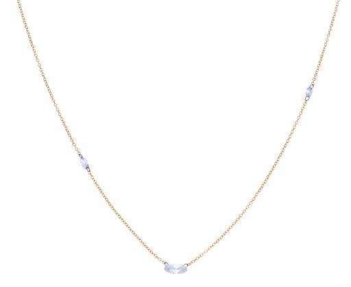 Oval Diamond Chain Necklace