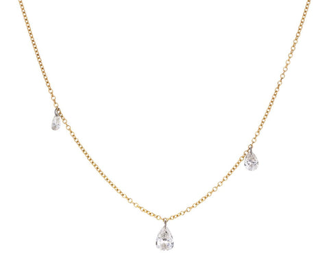 Free Set Pear Diamond Necklace zoom 1_todd_pownell_gold_triple_diamond_necklace