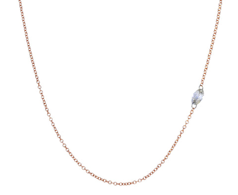 Inverted Oval Diamond Necklace
