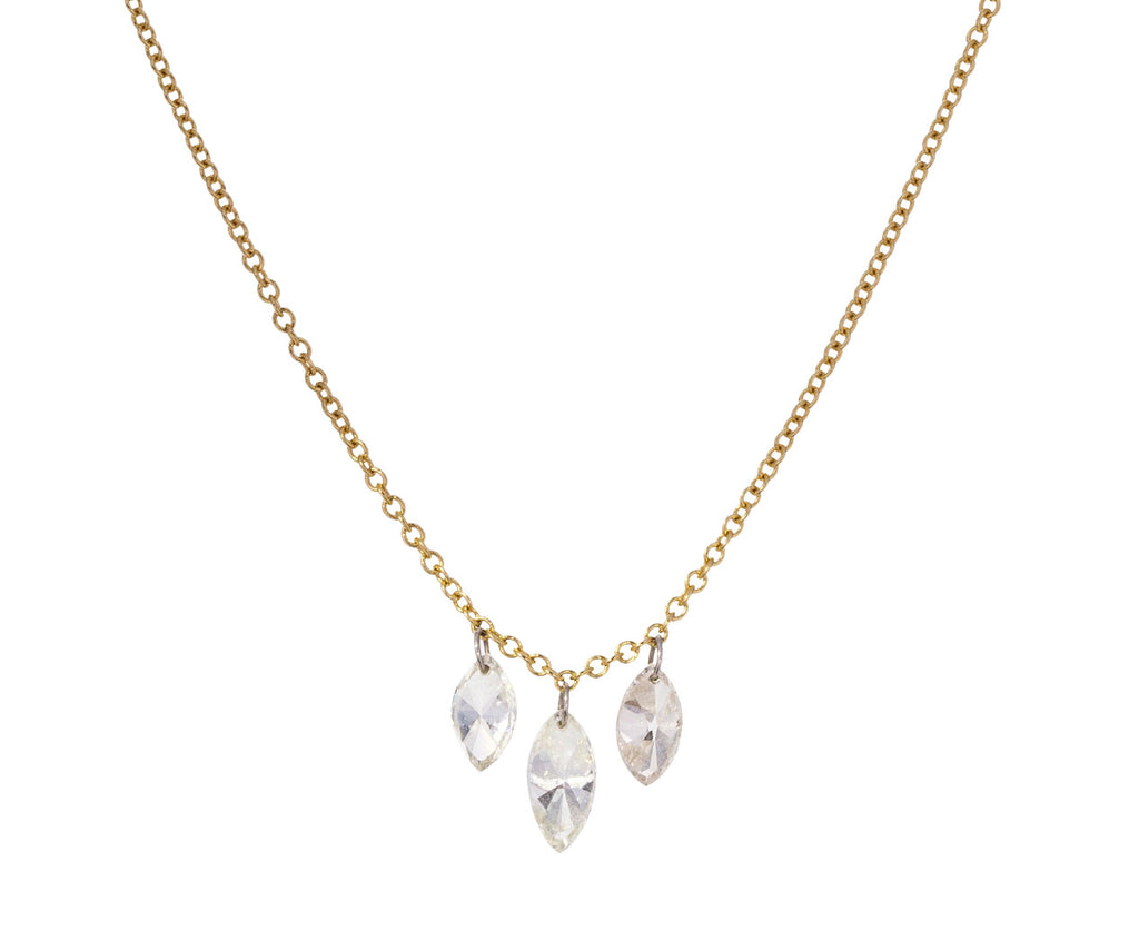 Triple Marquise Diamond Necklace