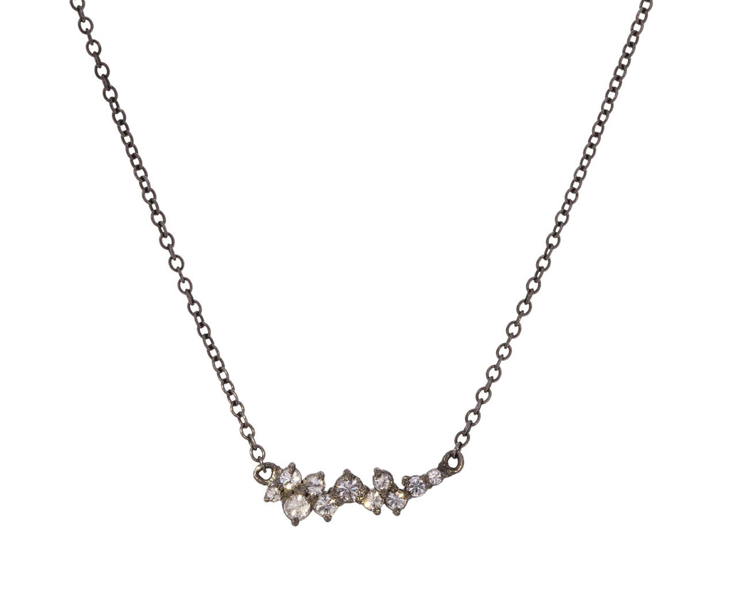 Inverted Diamond Cluster Necklace