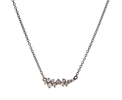 Inverted Diamond Cluster Necklace - TWISTonline