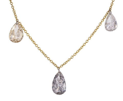 Triple Pear Shaped Diamond Necklace zoom 1_todd_pownell_gold_triple_pear_shaped_diamond_nec