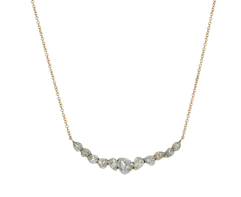 Curved Diamond Bar Necklace - TWISTonline