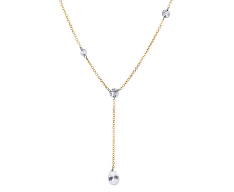 Mixed Diamond Lariat Necklace
