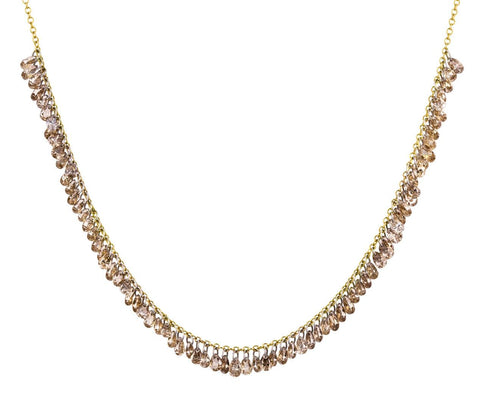 Multitide of Brown Diamonds Necklace zoom 1_todd_pownell_gold_brown_pear_shaped_diamond_neck