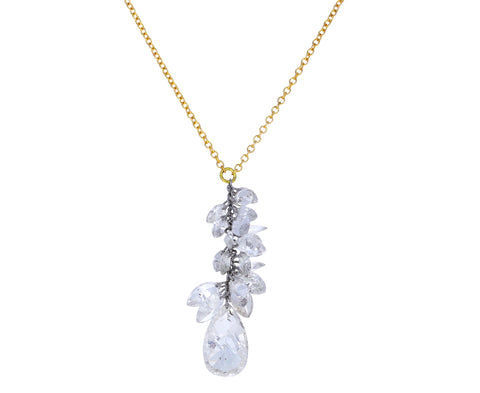 Marquise and Pear Shaped Diamond Waterfall Necklace