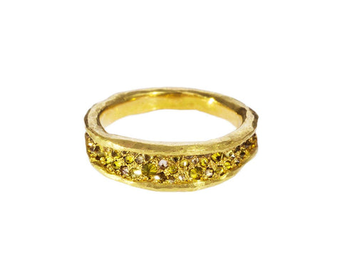 Concave Band with Inverted Yellow Diamonds zoom 1_todd_pownell_gold_diamond_tapered_concave_ring