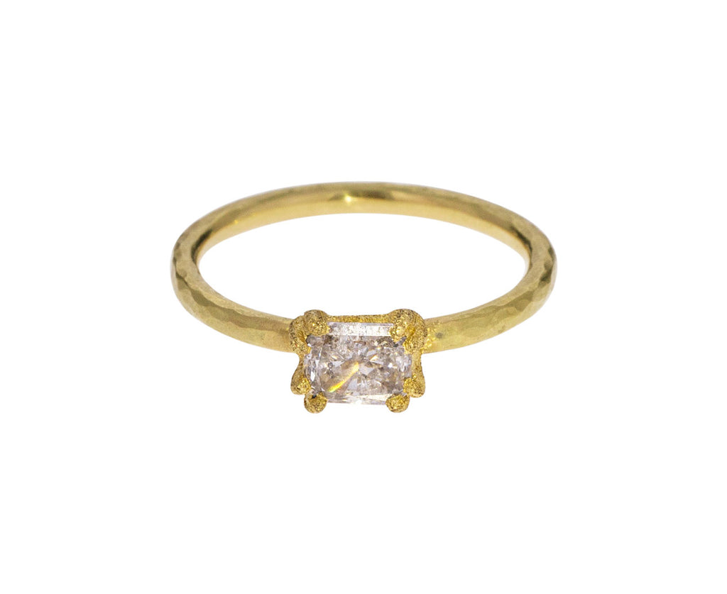 Pale Yellow Diamond Solitaire