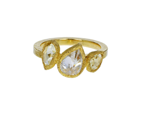 Triple Pear Shaped Diamond Ring