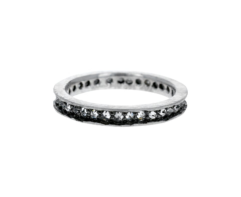 Inverted Diamond Platinum Eternity Band - TWISTonline