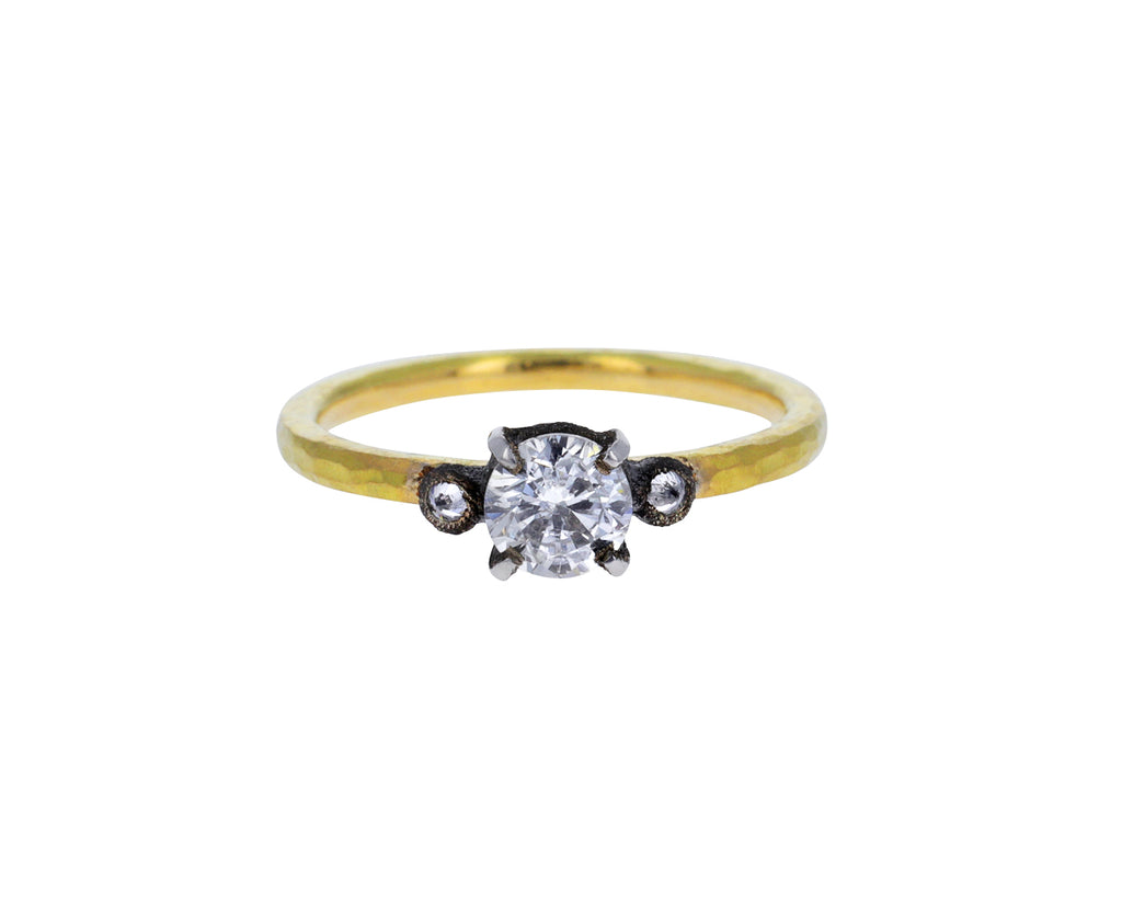 Round Triple Diamond Solitaire Ring