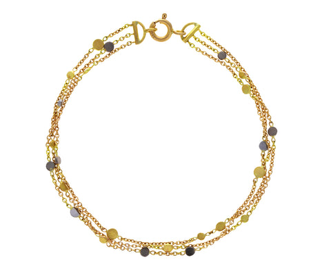 Platinum and Gold Falling Dust Bracelet