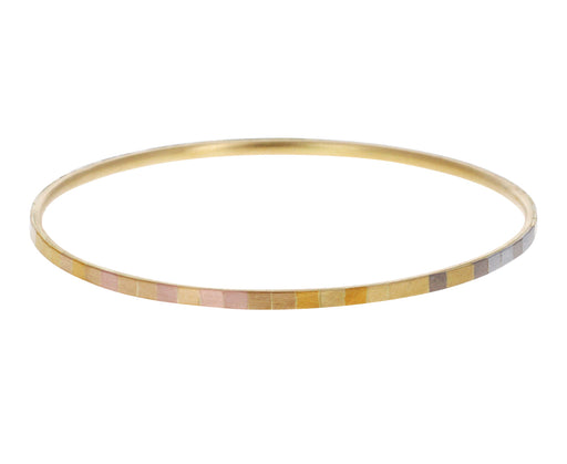 Rainbow Gold Bangle Bracelet