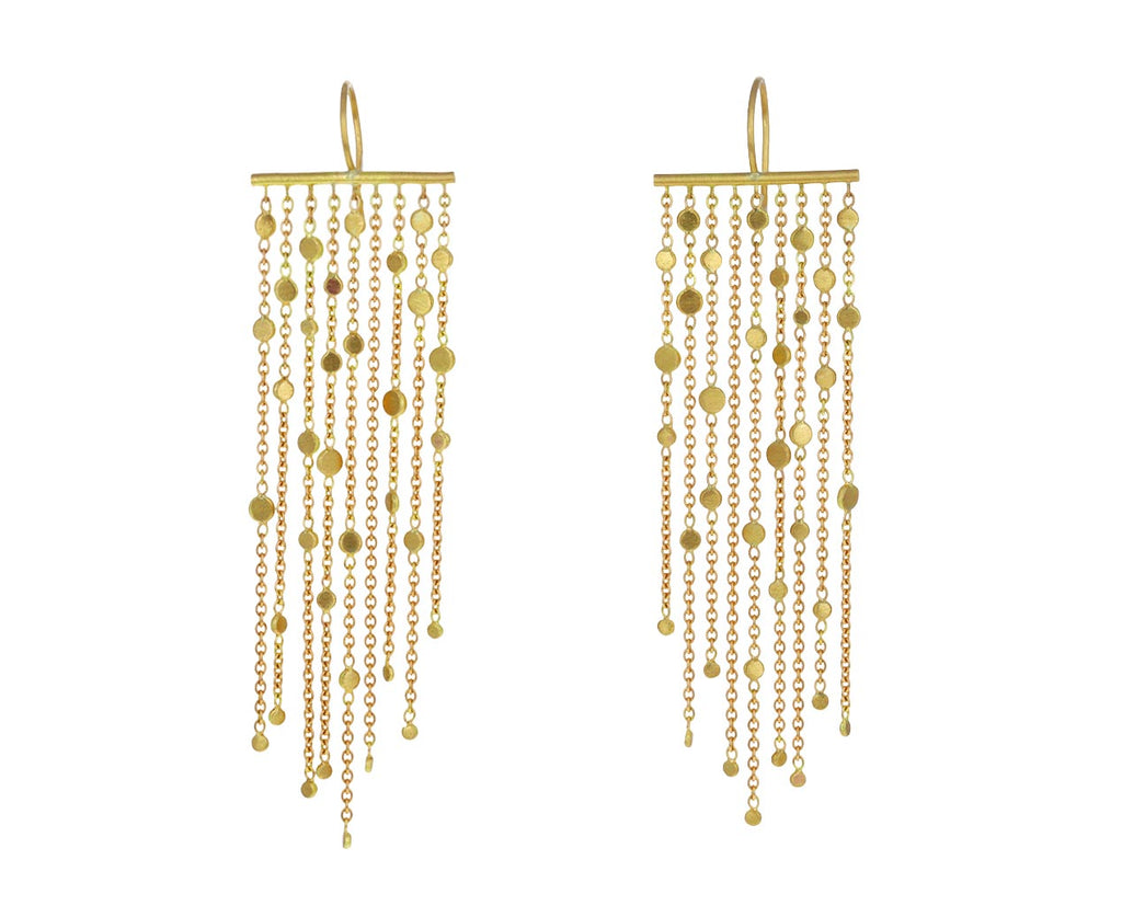 Gold Nine Strand Falling Dust Earrings